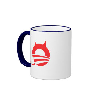 Obama devil ringer coffee mug
