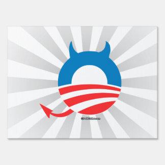 Obama Devil Lawn Sign