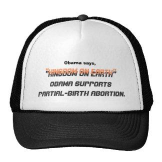 """Obama dice, el """"reino en la tierra"""", """"reino en el  gorro de camionero"""
