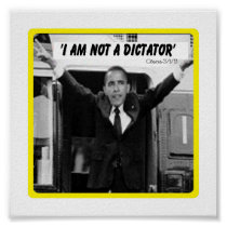 OBAMA DICTATOR POSTER (small) posters