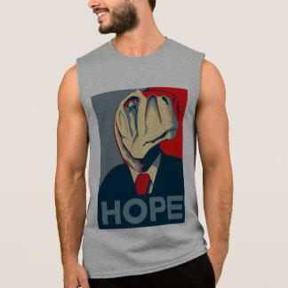 Obama Dinosaur T Rex Hope Sleeveless Shirt