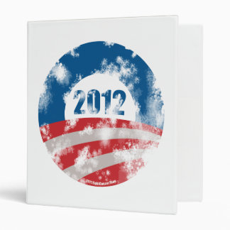 Obama Distressed Symbol Binder