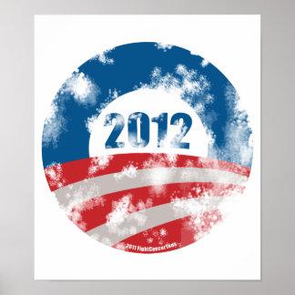 Obama Distressed Symbol Print