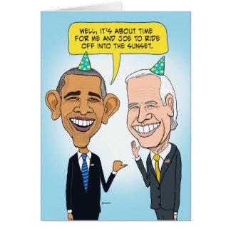 Obama divertido y tarjeta de cumpleaños de