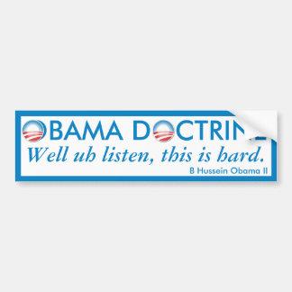 Obama Doctrine Bumper Sticker