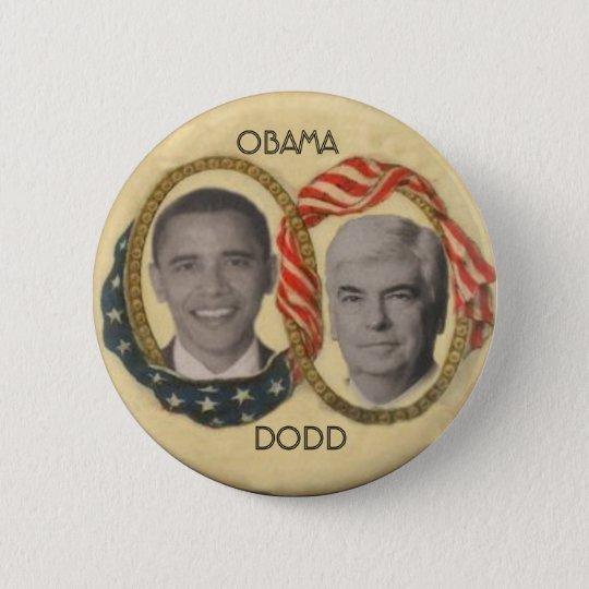 Obama / Dodd Retro-Style Button
