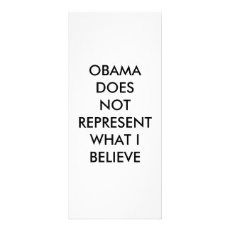 OBAMA DOES NOT REPRESENT WHAT I BELIEVE PERSONALIZED RACK CARD