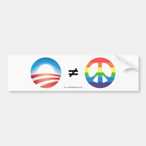 Obama Doesnt Equal Peace Bumper Sticker