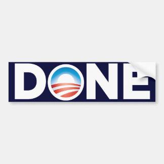 Obama Done Bumper Sticker Car Bumper Sticker
