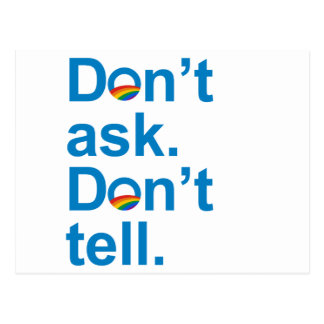 Obama - Don't ask. Don't tell Postcard