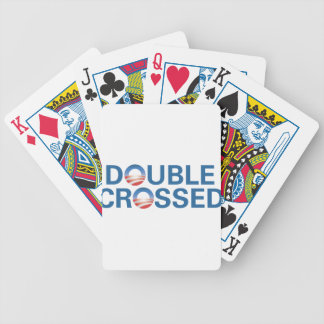 Obama Double-Crossed Us Bicycle Playing Cards
