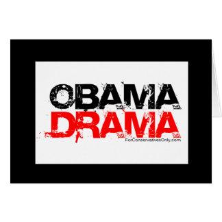Obama Drama Greeting Card