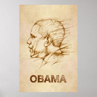 Obama Drawing Poster