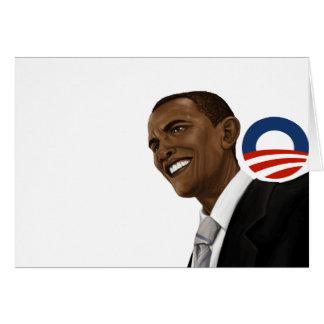 Obama drawing with Obama logo Card