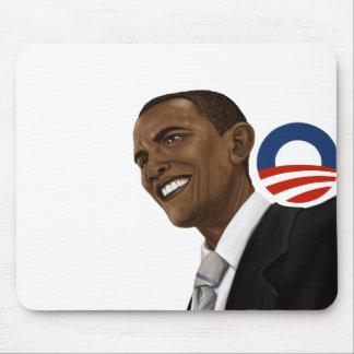 Obama drawing with Obama logo Mouse Pad