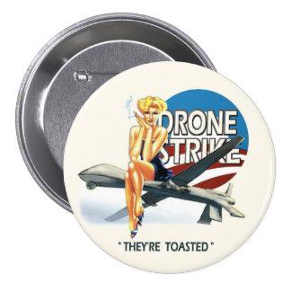 Obama Drone Strike Pinback Button