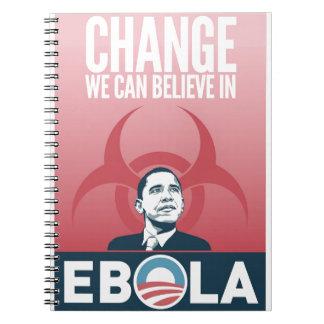 Obama Ebola Spiral Notebook