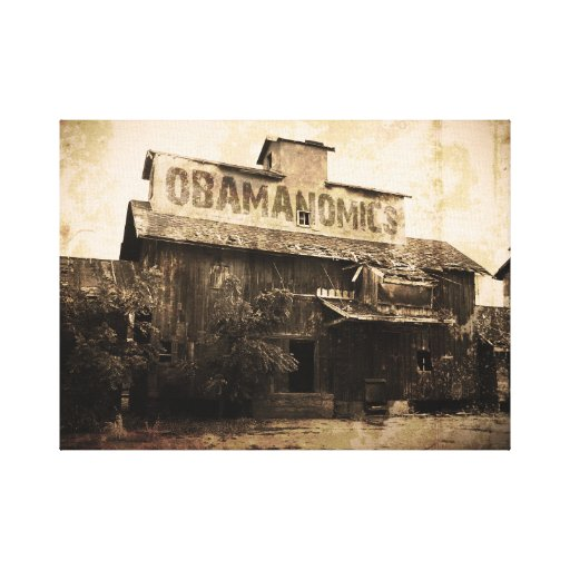 Obama Economic Socialism Stretched Canvas Print