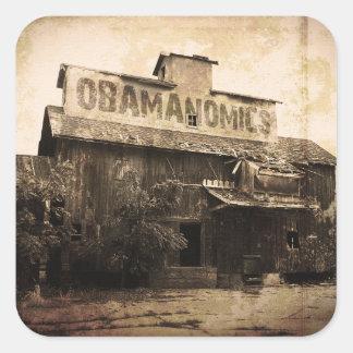 Obama Economic Socialism Square Stickers