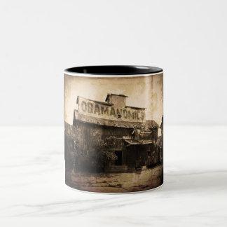Obama Economic Socialism Two-Tone Coffee Mug
