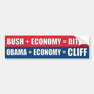 Obama + Economy = CLIFF Bumper Sticker