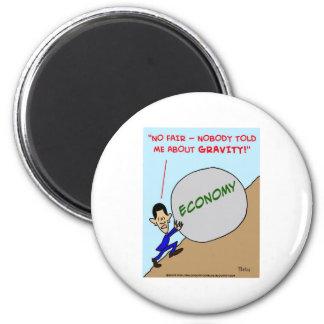 Obama economy gravity fridge magnets