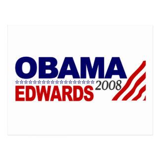 Obama Edwards 2008 Postcards