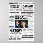 Obama: El 44.o presidente Headline Collage Poster