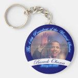 Obama: El 44.o presidente Inauguration Keychain Llavero Redondo Tipo Pin