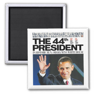 Obama: El 44.o presidente Magnet Imán Cuadrado