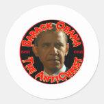 Obama el AntiChrist Pegatina Redonda