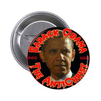 Obama el AntiChrist Pin Redondo De 2 Pulgadas
