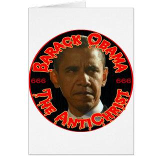 Obama el AntiChrist Tarjeton