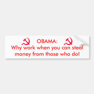 Obama el comunista pegatina de parachoque
