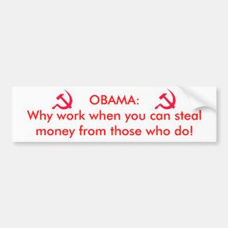 Obama el comunista pegatina para auto