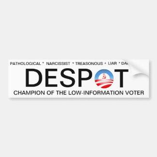Obama el déspota etiqueta de parachoque