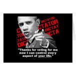 Obama el dictador tarjeta