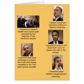 Obama el dictador tarjeta de felicitación
