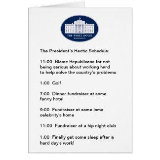 Obama - el golfista/el Recaudador de Tarjeta De Felicitación