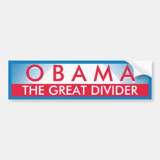 Obama el grande pegatina para auto