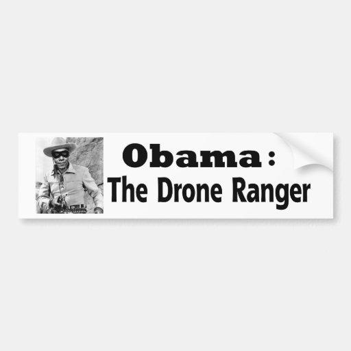 Obama: El guardabosques del abejón Etiqueta De Parachoque
