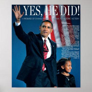 Obama: Él hizo sí el poster