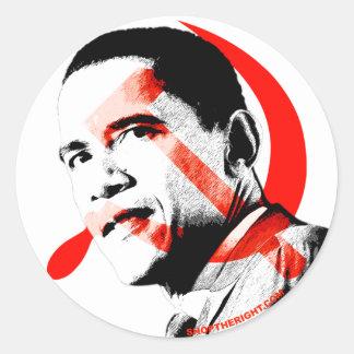 Obama - él lo va a hacer sí etiqueta redonda