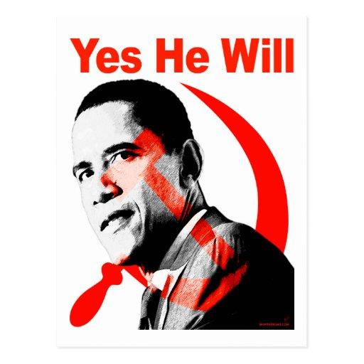 Obama - él lo va a hacer sí postal