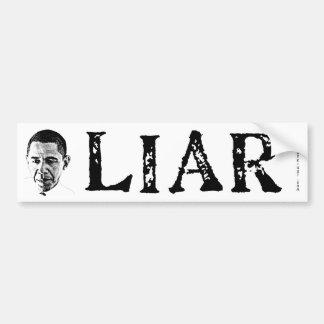 Obama el mentiroso pegatina de parachoque