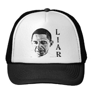 Obama el mentiroso gorros