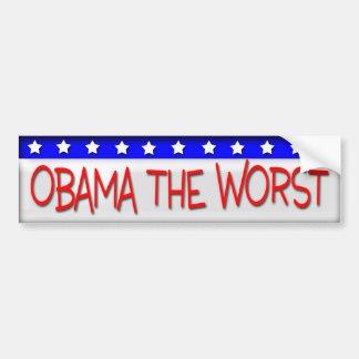 Obama el peor pegatina para auto