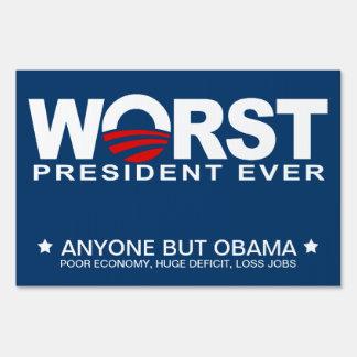 Obama - el presidente peor Ever Señales