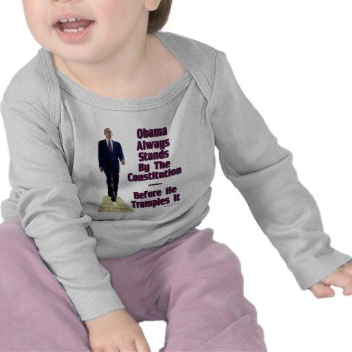 obama el Trampler Camisetas