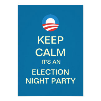 Obama Election Night Party Invitation